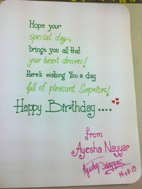 Ayesha Nayyer NYP Birthday Wish