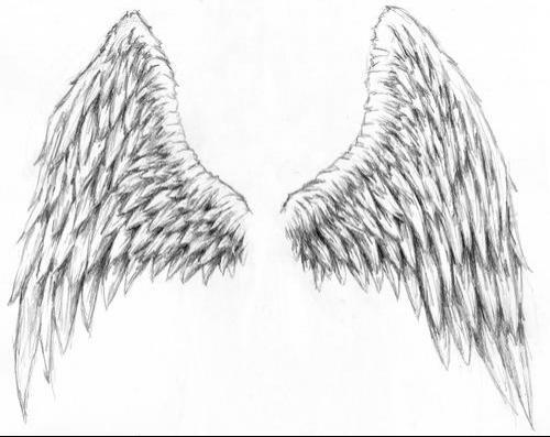 dibujos y plantillas para imprimir alas de angel. Black Bedroom Furniture Sets. Home Design Ideas