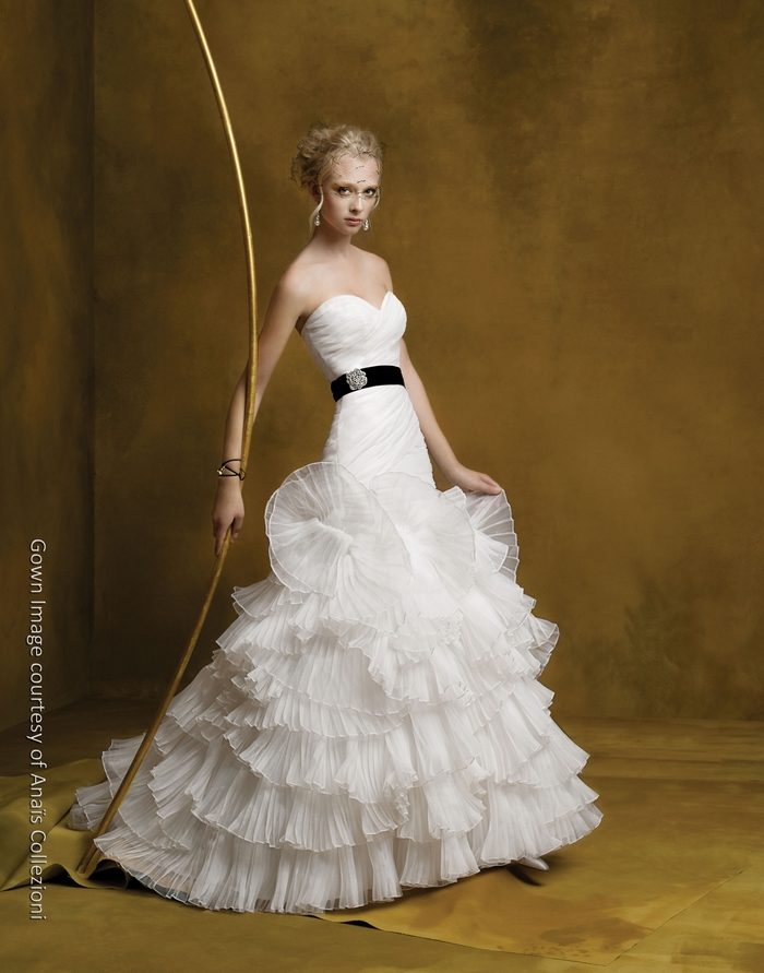 choose your fashion style wedding dresses with black sashes