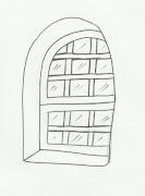 Desenho de vitrô para pintar. Desenho de vitrô para imprimir e colorir.