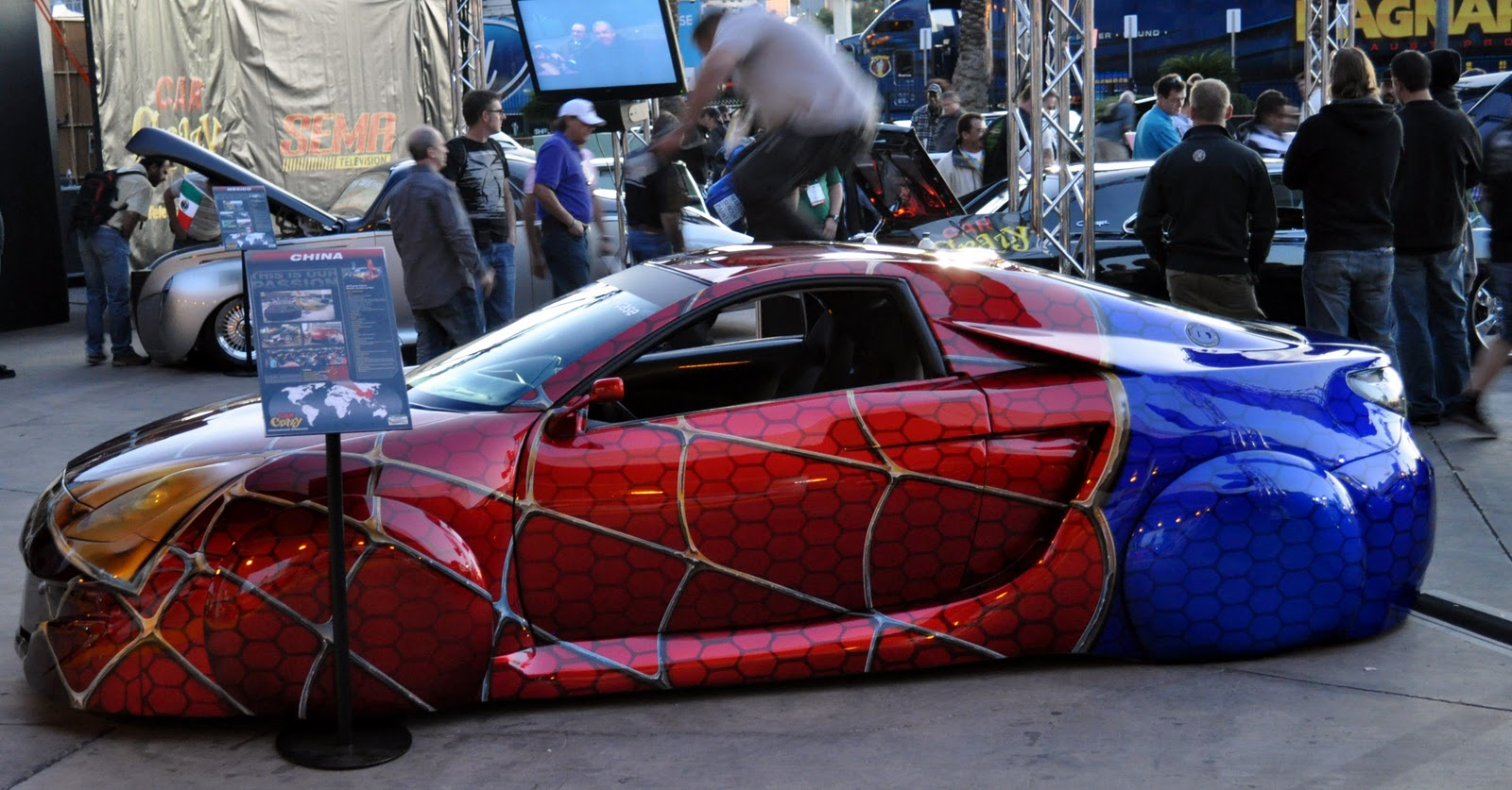 Just A Car Guy: the Spiderman theme paintjob... eyecatching ...