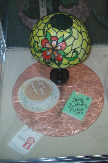 Tiffany Lamp and Tea Mug Cake