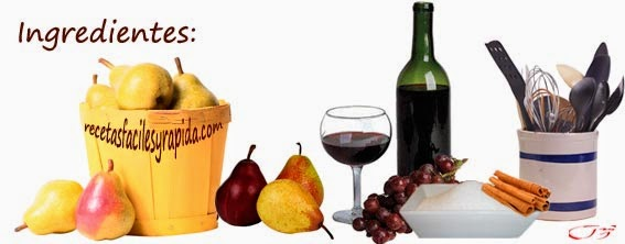 peras al vino ingredientes
