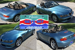 NEW YEAR NEW LOOK FOR MY BLUE BMW Z3 JAMES BOND GOLDENEYE CAR NEW BOOT NEW LICENSE PLATE 'GEYE007'