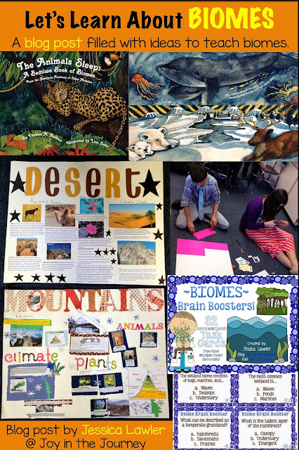Blog post filled with ideas and activities to use when teaching biomes in your upper elementary science classroom. Written by Jessica Lawler @ Joy in the Journey.