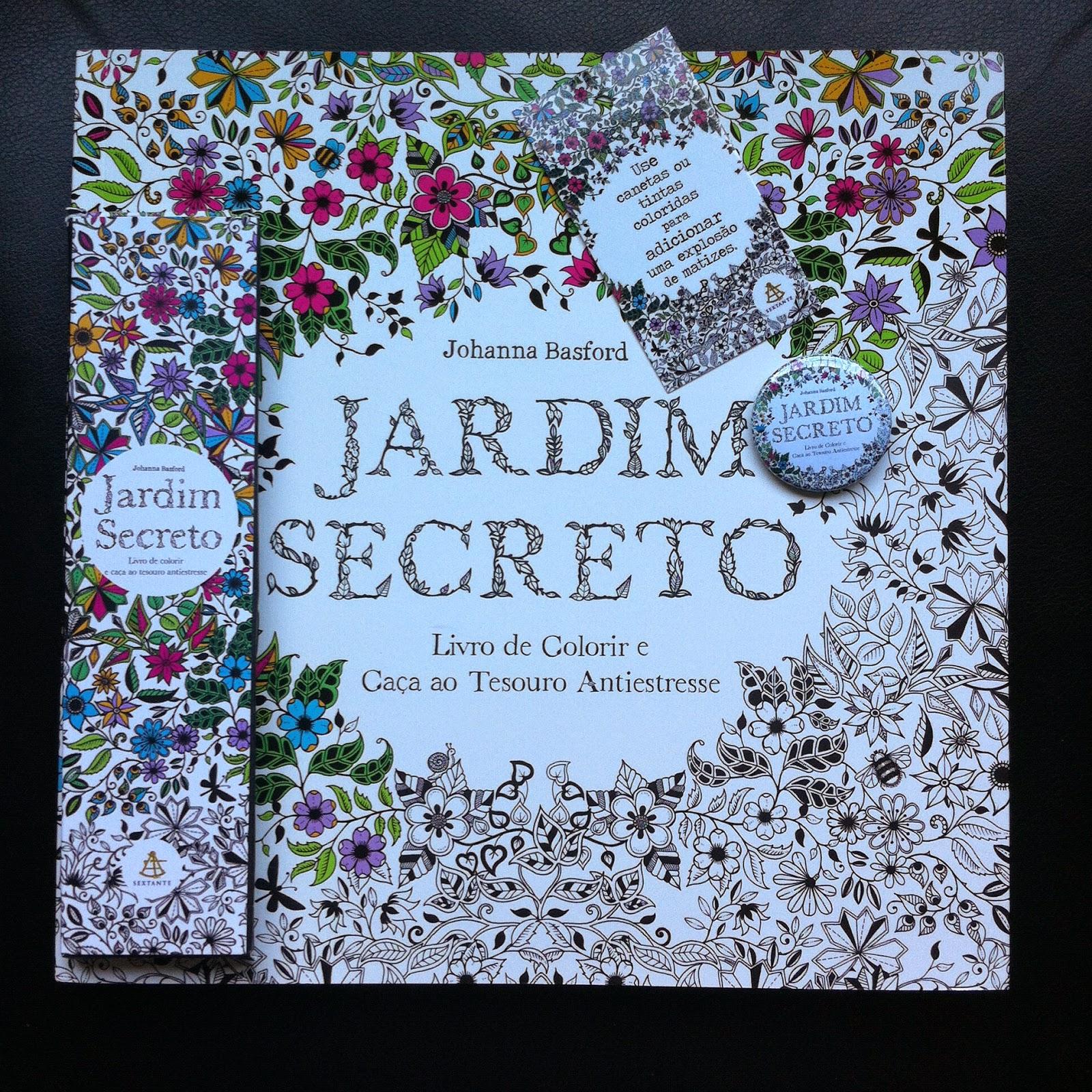 fotos do livro jardim secreto : fotos do livro jardim secreto:kit ( Livro, lápis de cor e botton.) do livro JARDIM SECRETO – LIVRO