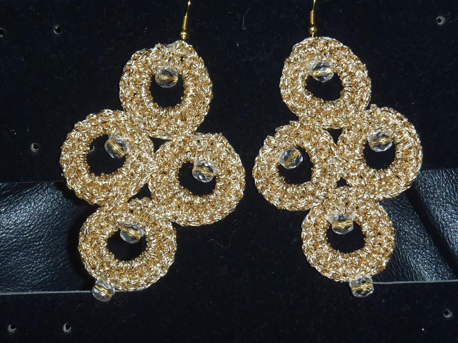 Sara nel mondo del crochet orecchini all 39 uncinetto oro for Immagini uncinetto
