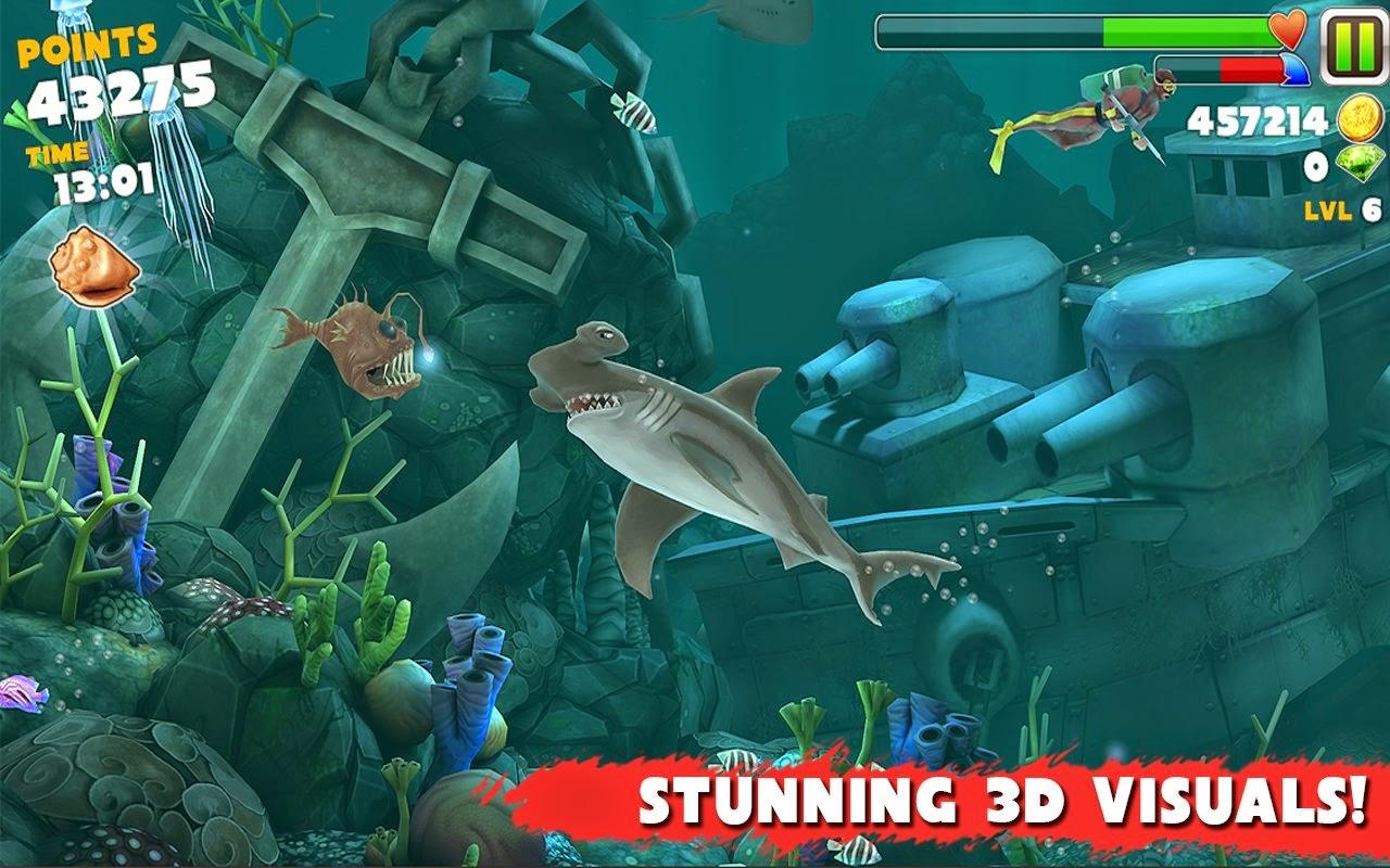 Hungry Shark Evolution Shell Map