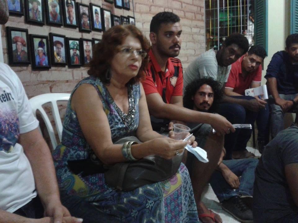 Nivete Azevedo, do Centro das Mulheres do Cabo, em palestra no MOBBAC.
