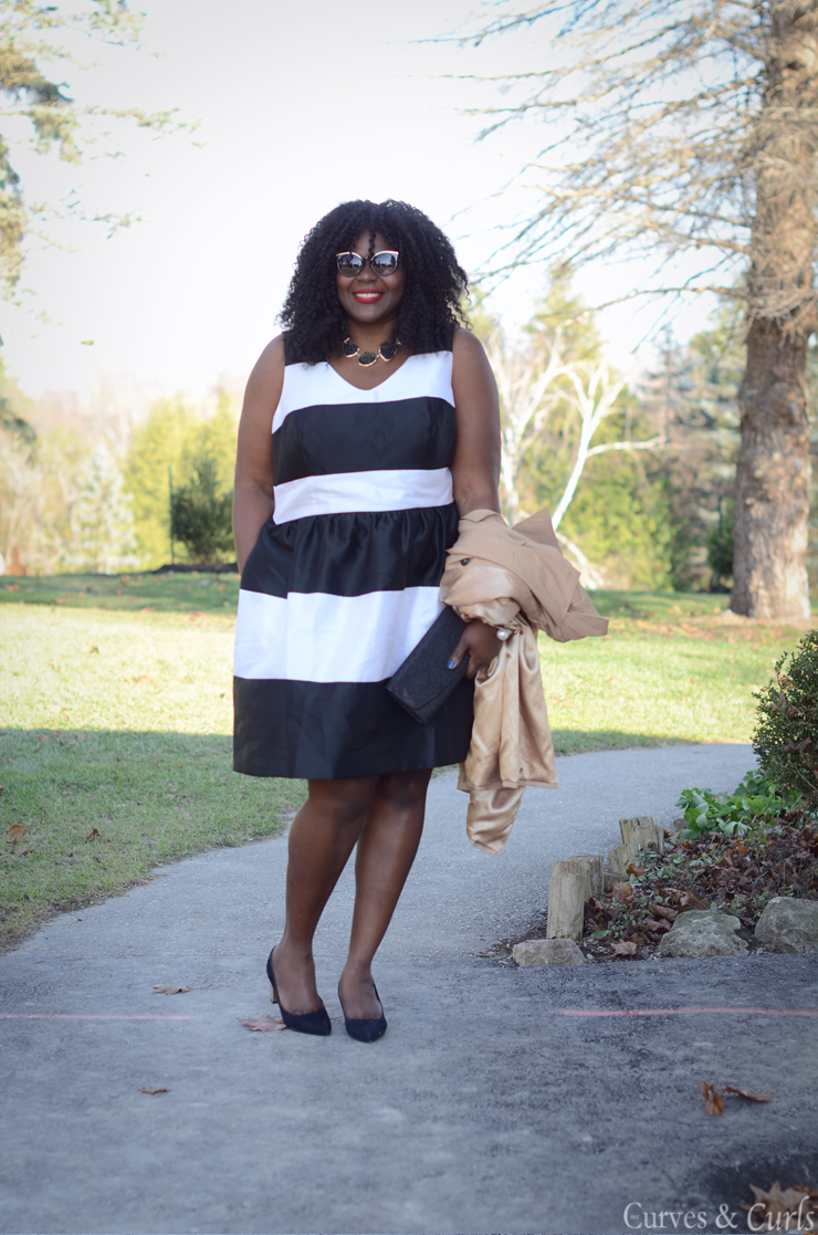 Stripes dress plus size