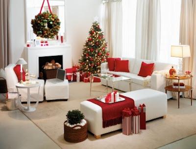 sala enfeitada de natal