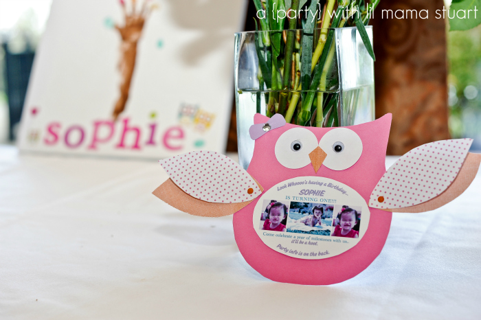 A day with lil mama stuart colorful owl st birthday party