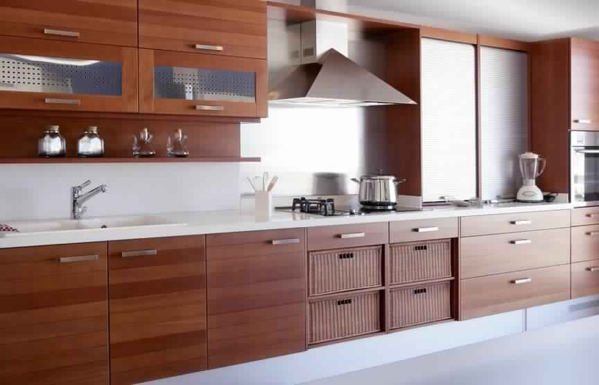 meuble cuisine moderne | meubles de cuisine - Meuble Cuisine En Bois Massif