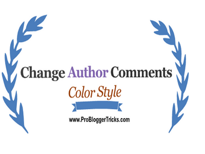 change author comments background style