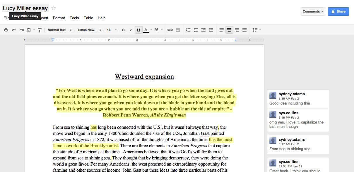manifest destiny research paper