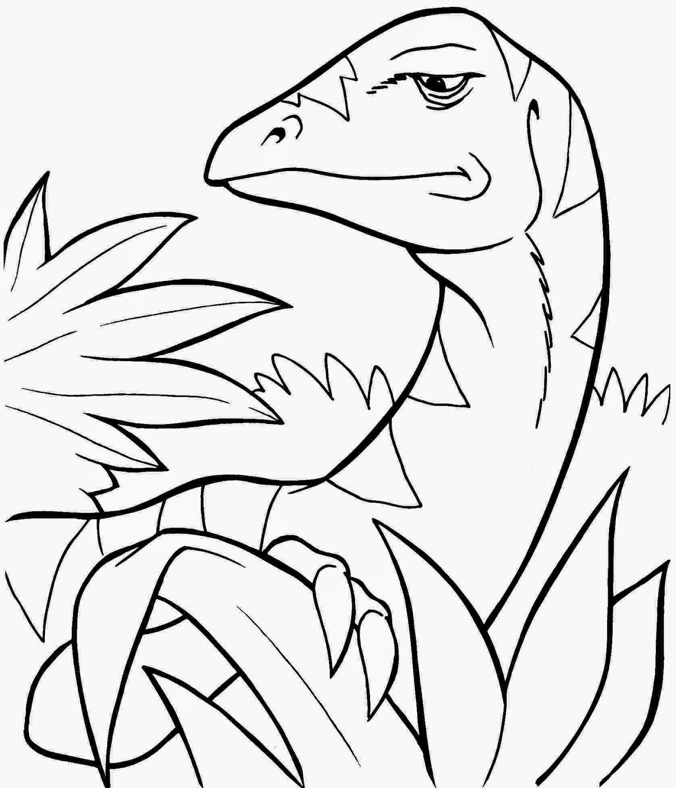 Adorable image with free printable dinosaur coloring pages