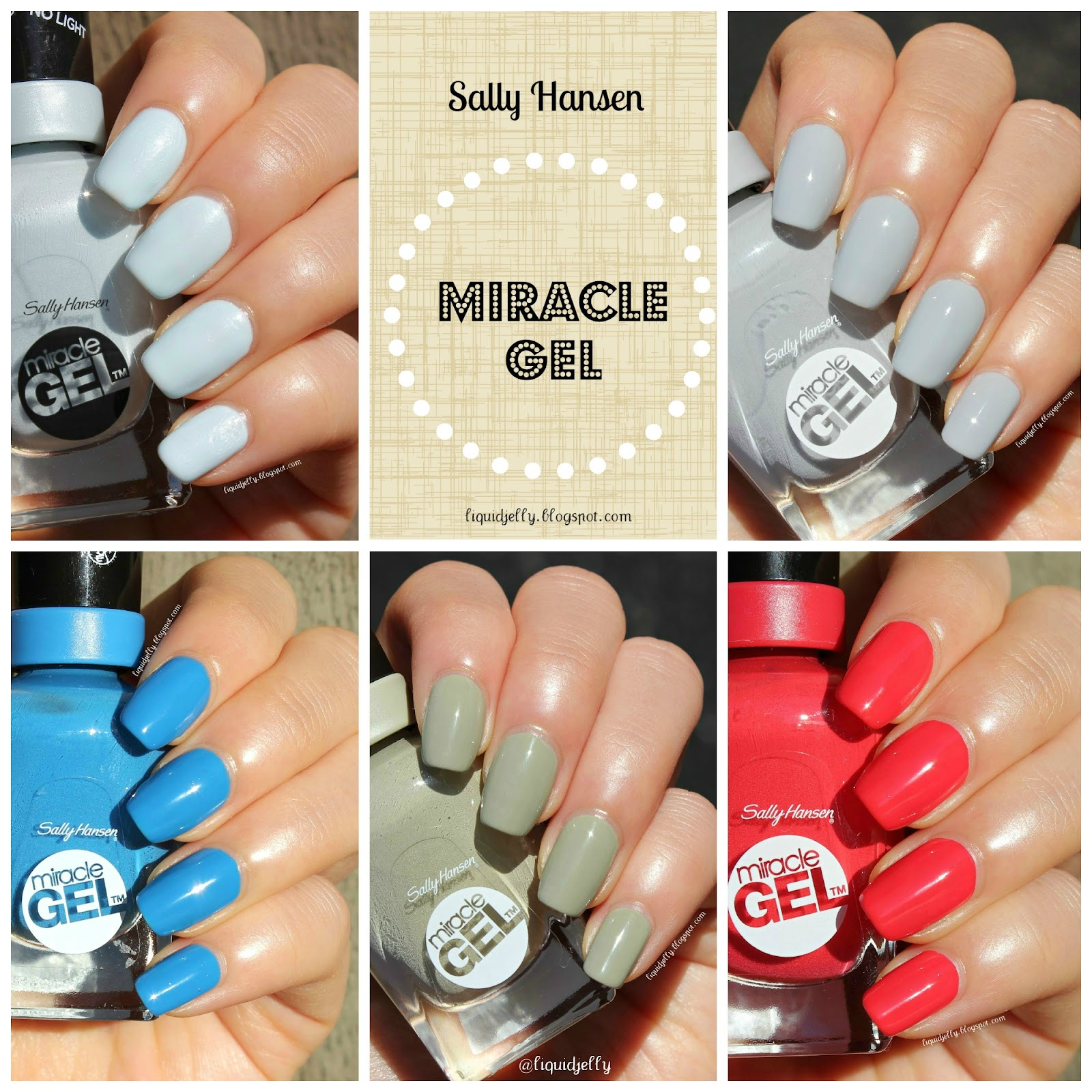 Liquid Jelly: [Review+Swatch] Sally Hansen Miracle Gel Color & Top Coat