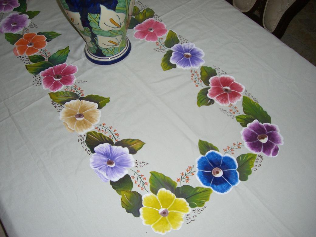 MANTELES E INDIVIDUALES pintados a mano por encargo