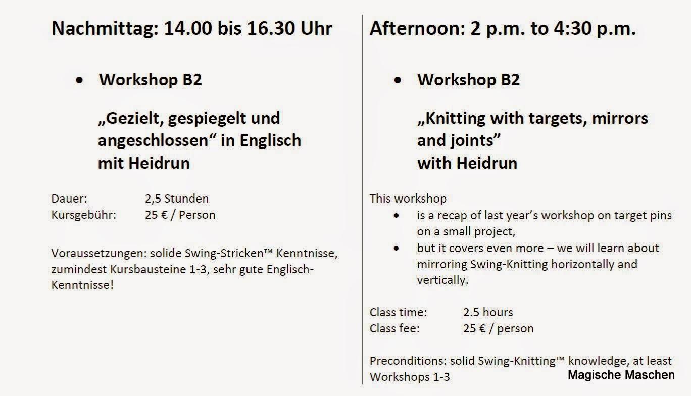 Magische Maschen - Making of ...: Helmstedt 2015 - German and English!