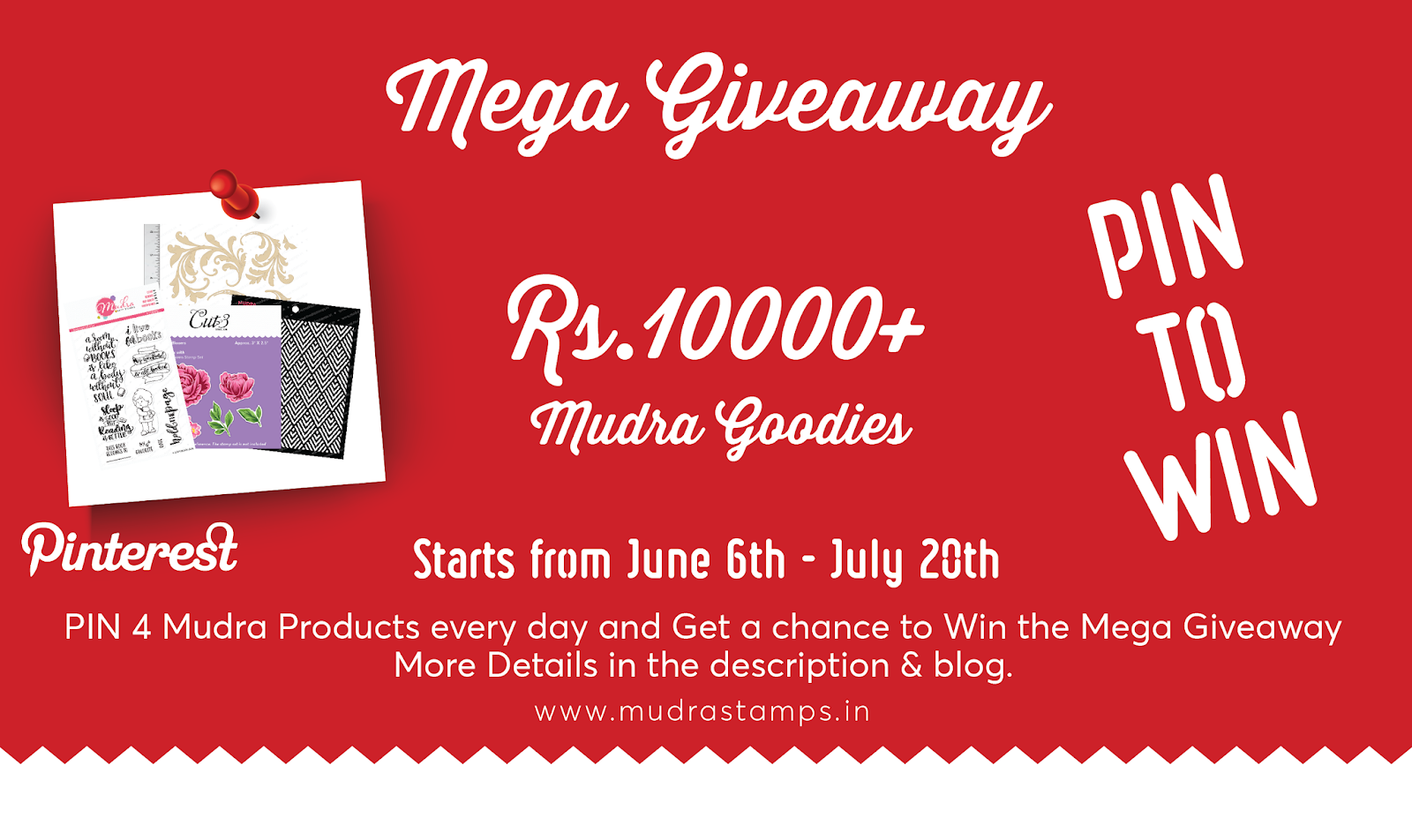 Mudra Craft Stamps 10K Giveaway