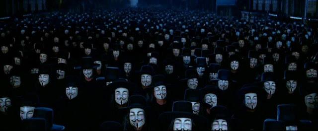 """Escena de la película """"V de Vendetta"""", 2005"""