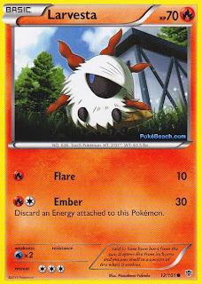 Larvesta Plasma Blast Pokemon Card