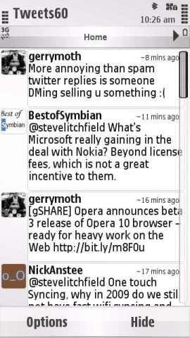 Tweets60 Screenshot