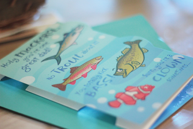 fish father's day card