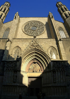 Santa Maria del Mar gothic church in Barcelona