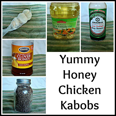 we have yummy honey chicken kabobs adapted from allrecipes com