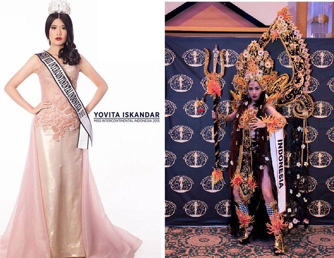 Top 10 Miss Intercontinental 2015 Wakil Indonesia Yovita Iskandar Pemenang Kostum Baju Terbaik