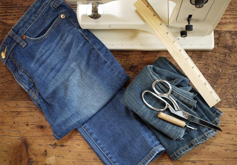 Как из джинсов сделать клеш 365