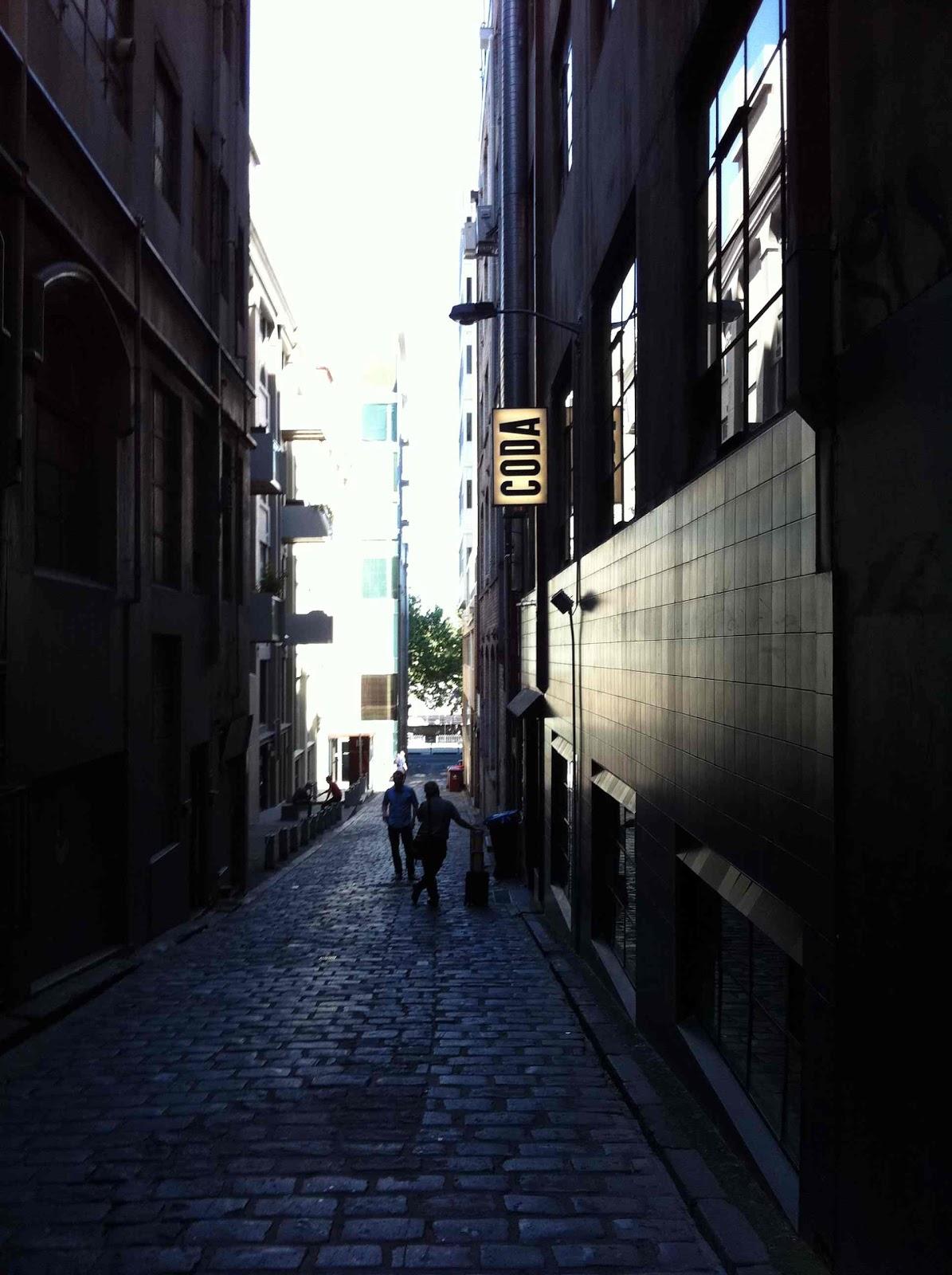 coda basement 141 flinders lane access from oliver lane melbourne
