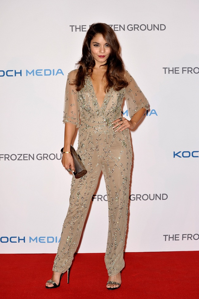 Vanessa Hudgens shines in an embellished jumpsuit at 'The Frozen Ground' London premiere