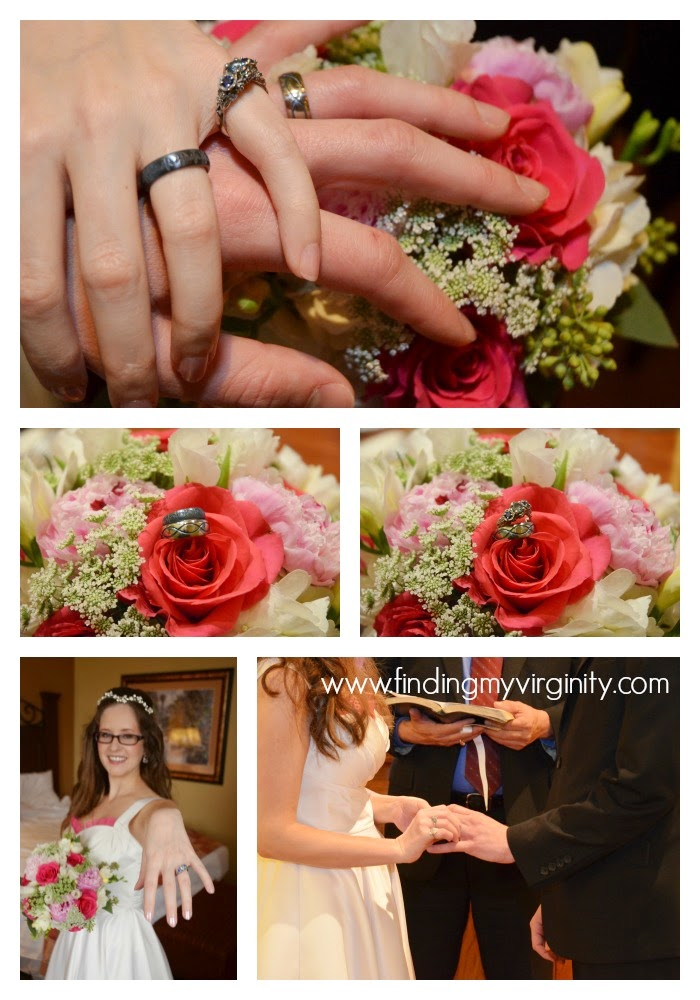 professional photos of our rings from our wedding day in San Antonio
