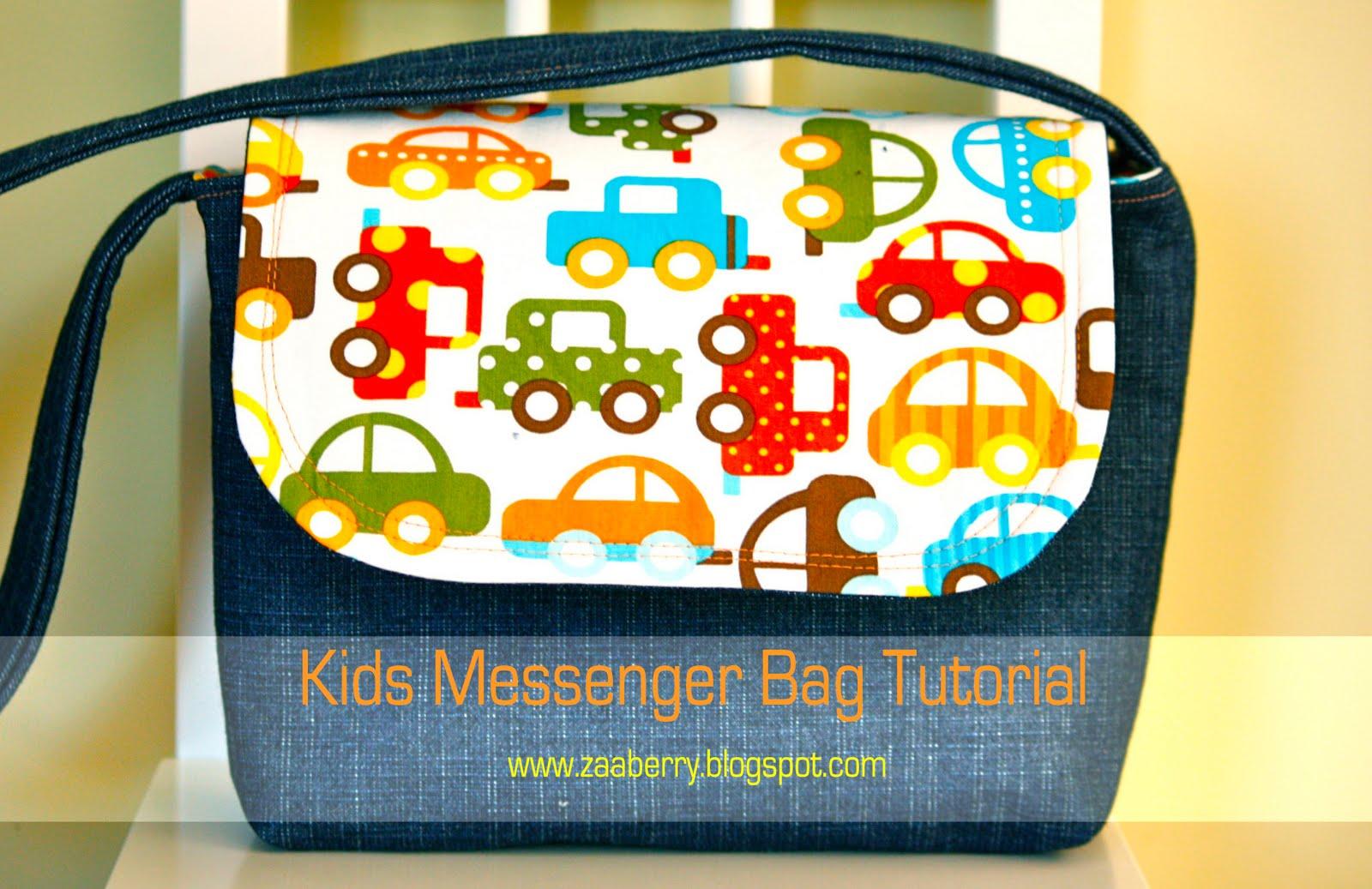 ac6266194135 Zaaberry  Kid s Messenger Bag Tutorial