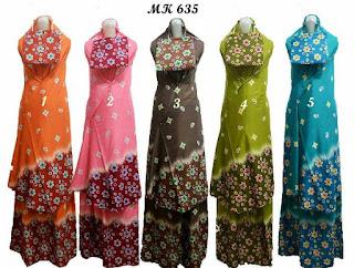 mukena batik muslim motif kembang