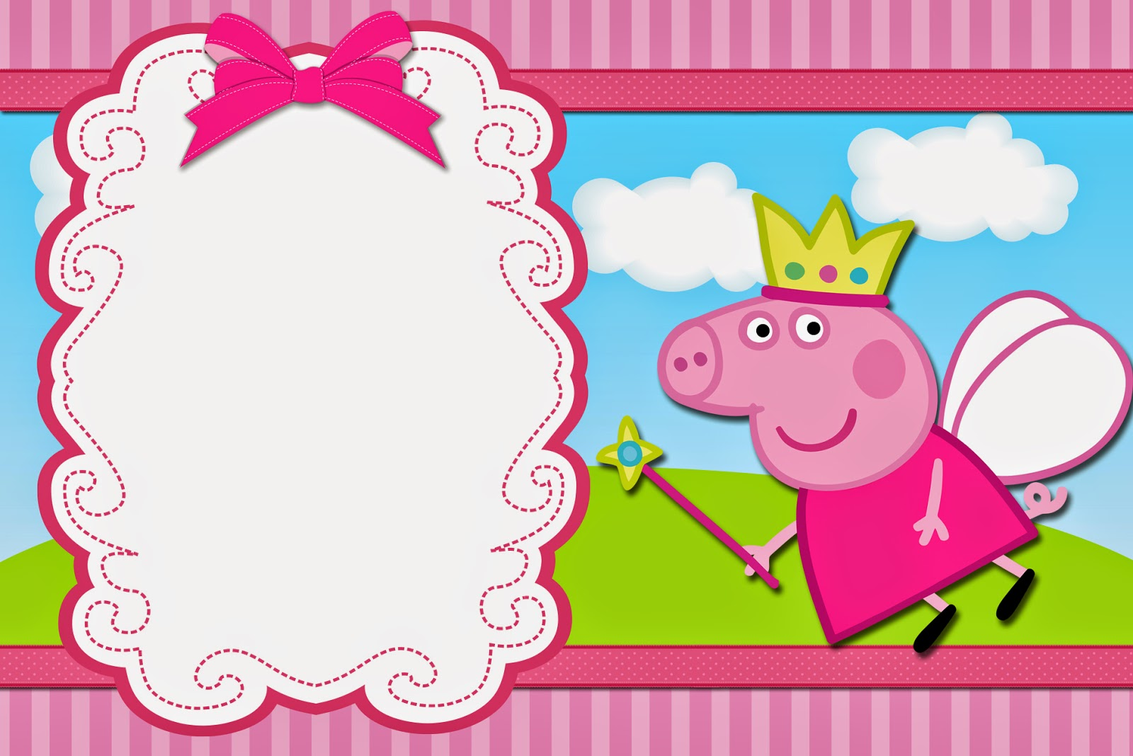 It's just a picture of Légend Peppa Pig Printable Invitations