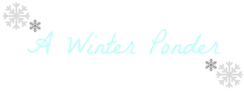 A Winter Ponder