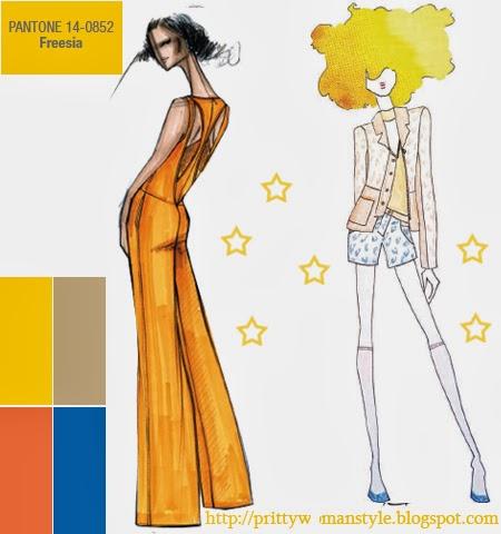 Жълто фрезия моден цвят пролет лято 2014
