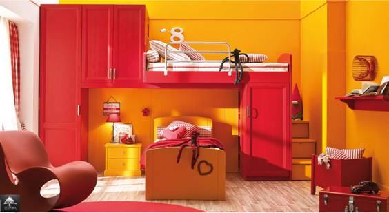 Habitaciones para ni os color naranja dormitorios - Habitaciones color naranja ...