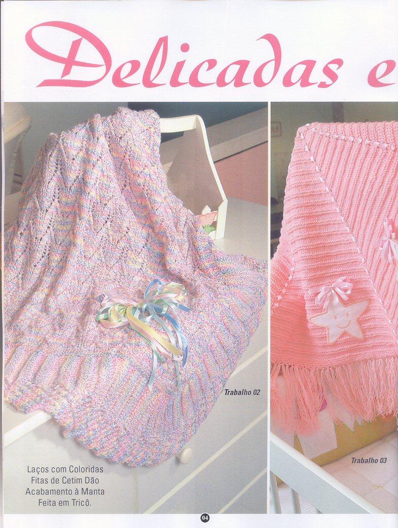 18 mantas para bebe tricot crochet patrones gratis todo - Manta de crochet facil ...