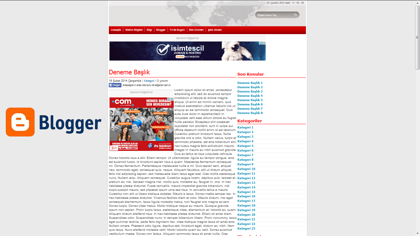 blogger wp news fast theme tema