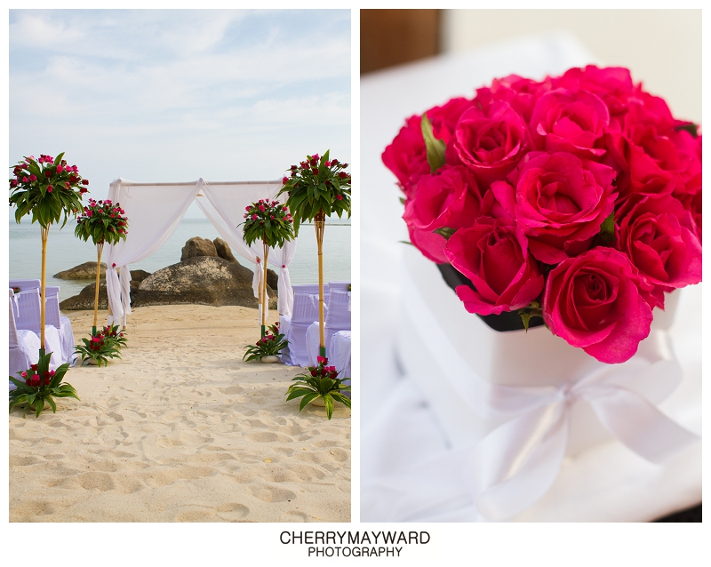 wedding details, Koh Samui beach wedding