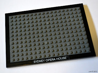 lego sydney opera house - the baseplate