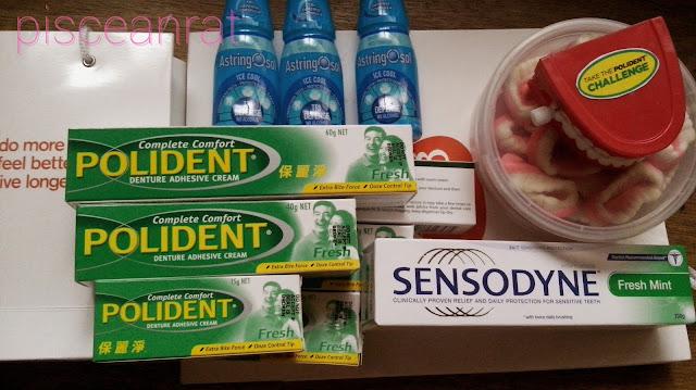 polident, sensodyne, astringosol, Denture Cleanser, Polident Denture Adhesive Cream