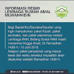 Batas Penyaluran Sosial di Ramadhan 1439 H