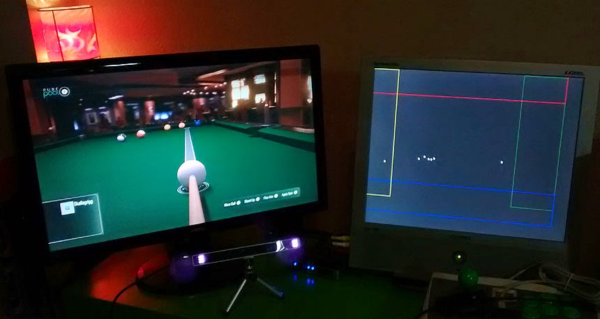 Pool Paradise with aiming by Eye Tracker, using an Eye-Tribe, Alt-Controller and Titan One. Development work with SpecialEffect.org.uk and OneSwitch.org.uk
