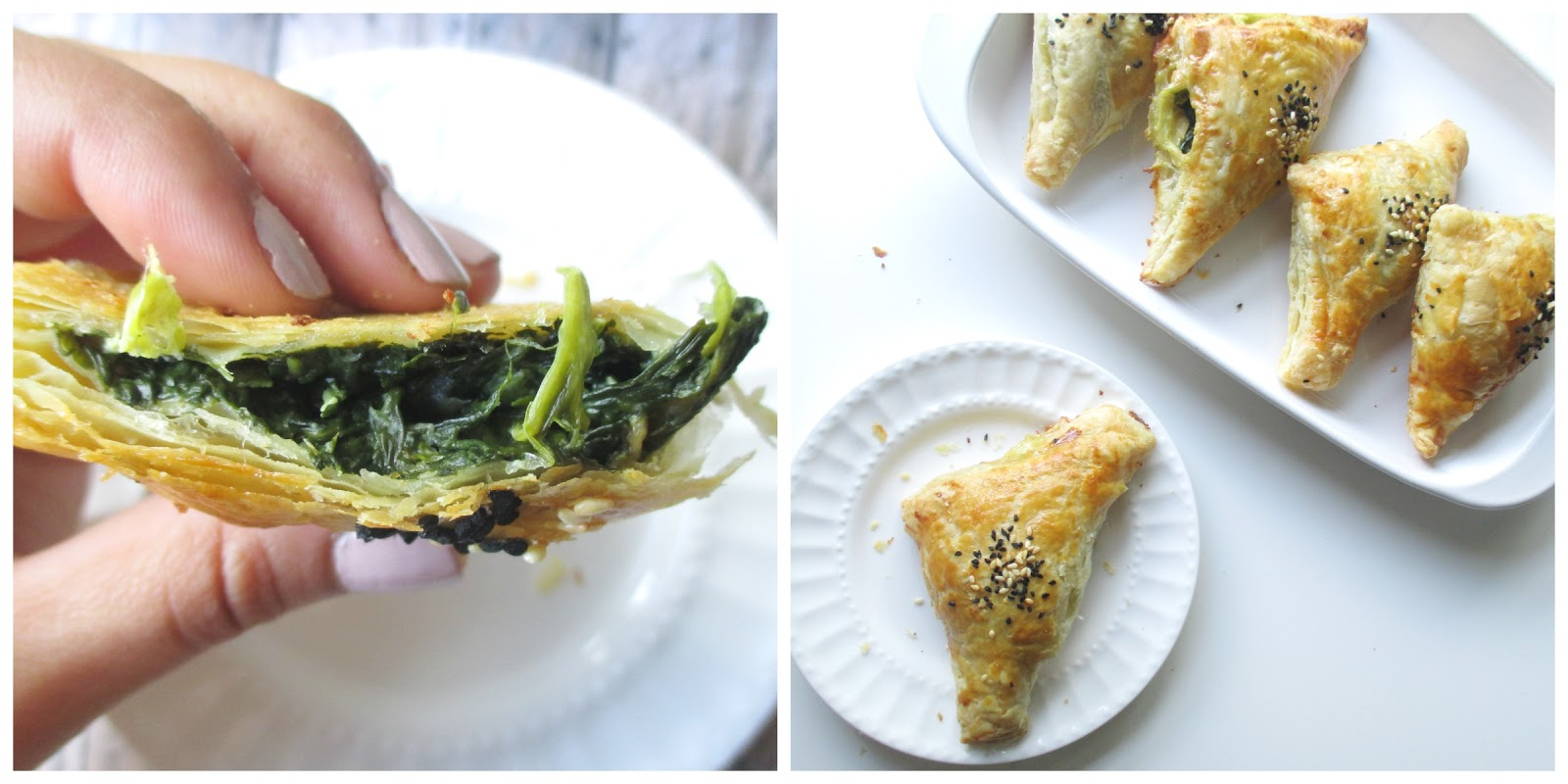 cheese and spinach puff pastry