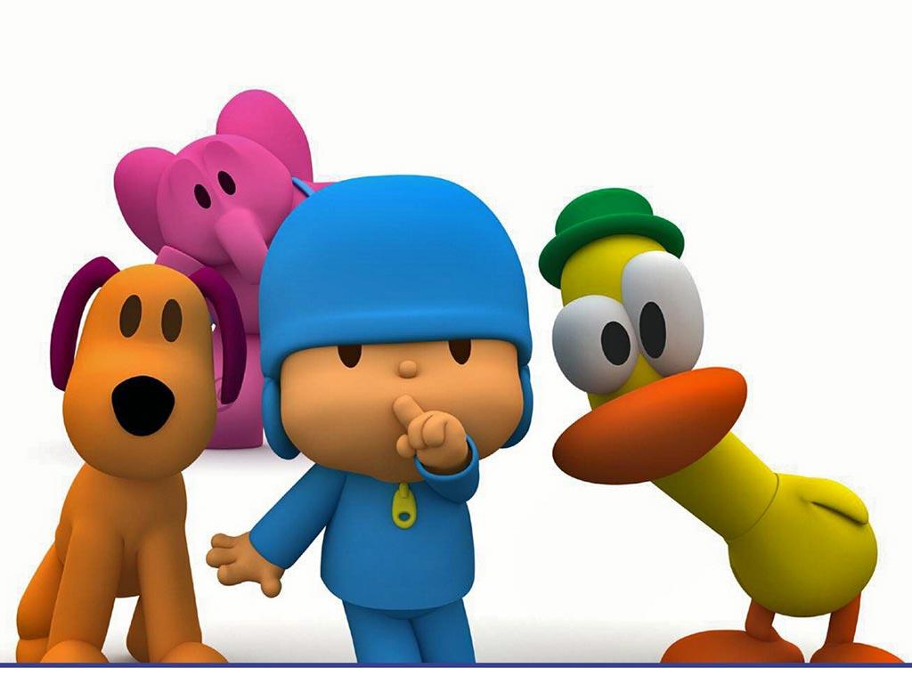 ... de pantalla infantil para ninos de pocoyo y sus amigos pato elly y